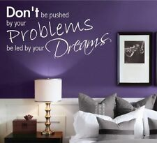 Dreams Problems Bedroom Room Wall Art Quotes Stickers Murals Decals transfers