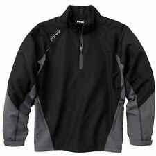New Black Ping 1/4 Zip Recovery Golf Jacket Coat Large XL Pullover Rain Wind