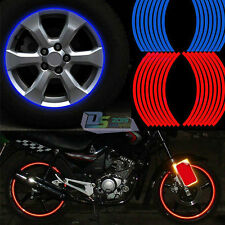 Motorcycle Car 10mm Reflective Stripe Rim Tape Wheel Sticker Cool Decal Custom
