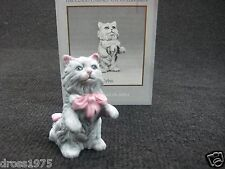 "Franklin Mint Curio Cabinet Cat Collection ""Cybis"" with booklet Rare!"