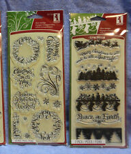 Inkadinkado Clear Stamps:Christmas Winter Holiday: you choose/combine ship