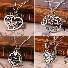 SHS12 Sister Mother Family Best Friend Love Cool Pendant Necklace Jewelry Gift