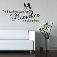 Making Memories Wall Quote Sticker Art Decal Transfer Mural Stencil Decorations