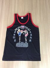 T-shirt  Muay Thai Black-Red Color Cotton S-XXL Size.