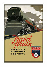 Canadian Pacific - Travel by Train #1 - Vintage Railroad Travel Poster