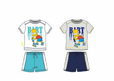 BART SIMPSON SHORT & T-SHIRT SET OUTFIT THE SIMPSONS AGE 2-8Y BNWT SUMMER SET