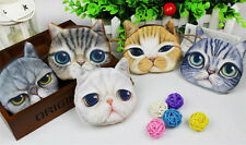 Children Wallet Cute Cat Face Zipper Case Coin Kids Purse  Makeup Bag Pouch Gift