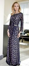 Formal Ladies Wedding Party Evening Long Maxi Dress  Size 10 12 14 16 18 20