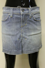 Juicy Couture womens light denim cotton pleated mini short skirt size Small