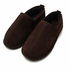 Deluxe Mens Soft Sole Sheepskin Slipper Boot - Chocolate
