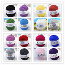 1Skein Ball Cashmere 20-Colors Soft Smooth Natural Weaving Wool Knitting Yarn