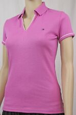 Tommy Hilfiger Womans Pink Buttonless Polo ~NWT~