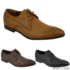 Mens New Leather Smart Casual Formal Lace up Dress Shoes UK Size 6 7 8 9 10 11