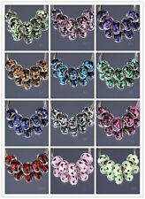 CRYSTAL Retro silver SPACER BEADS FIT European Beads Charm Bracelet