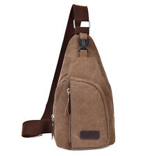 Vintage Men Messenger Bags Outdoor Travel Hiking Sport Male Canvas Chest bag