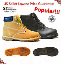 Free Shipping Men's Winter Snow Boots Work Boots Waterproof Rubber Leather 6011