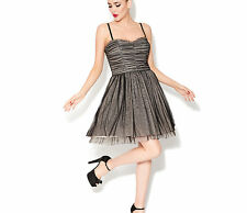 Betsey Johnson Dress Ruched Bodice Party Dress in Grey-NWT: RP: $178