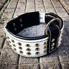 Bestia studded dog collar, handmade in Europe, 2.5 inch wide. Top Quality. M- XL