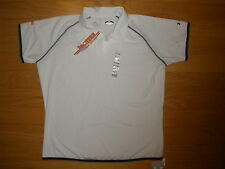 NEW WOMENS HOOTERS WHITE UNDER ARMOR STRETCHY POLO SHIRT LAS VEGAS SIZE S,M,L,XL