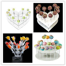 15/18/42 Holes Acrylic Cake Pop Lollipop Cupcake Display Stand Decor Home Party
