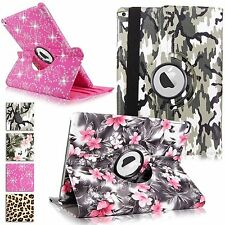 Apple iPad Air 2 6th Gen PU Leather Folio 360 Rotating Stand Stylish Case Cover