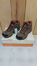 Merrell Women's Azura Mid Waterproof Hiking Shoes - Dark Earth/Red Assorted Size