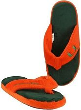 Miami Hurricanes NCAA Licensed Women's Flip Flop Thong Slipper Adult Sizes