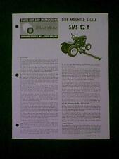 WHEEL HORSE SIDE MOUNT SICKLE BAR MODEL # SMS 42 A PARTS MANUAL