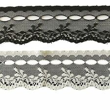 One Roll of Floral Lace Ribbon, 40mm Wide