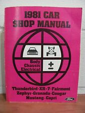 Genuine Ford 1981 Car Shop Manual - Body, Chassis, Electrical For Mustang + More