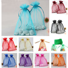 "100pcs 4x6"" Strong Organza Pouch Wedding Party Favor Gift Candy Bag Many Colors"