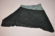 NWT-Leapin' Leotard adult size small Angled dance skirt black lace with shorts