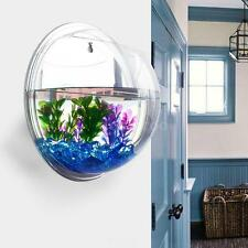 Wall-mounted Hanging Fish Tank Aquarium Bowl Plant Pot Modern Home Decor W0OM