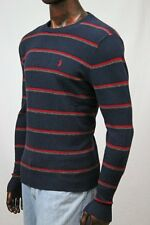 Polo Ralph Lauren Striped Lambs Wool Sweater Red Pony~NWT~