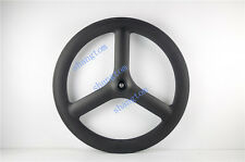 carbon 3 spoke wheel front wheel 65mm depth for road/track bike 700C Tubular