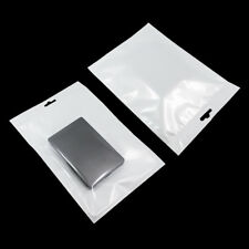 16cmx24cm Ziplock Plastic White Clear Resealable Hang Hole Bag Jewelry Packaging