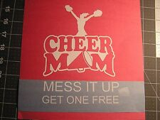Cheer MOM window wall car truck atv Vinyl Decal Sticker sport Color girl  PomPom