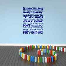 Playroom Rules Vinyl Wall Decal Wall Art Stickers for Playroom or Bedroom