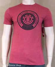 Element The Original Graphic Tee Mens Heather Red Custom Fit T-Shirt New NWT