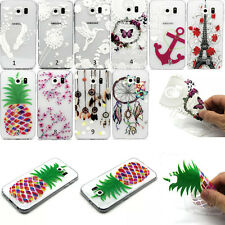 New Painted Clear Soft Silicone TPU Rubber Gel Back Case Cover For Mobile Phone