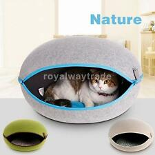 Pet Puppy Dog Cat Egg Shaped House Cushion Bed Kennel Removable Green/Gray/Beige