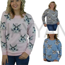 WOMEN'S LADIES GIRLS CAT JUMPER