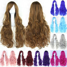 """80cm/31"""" Women Girl Fashion Anime Long Curly Wavy Hair Party Cosplay Full Wig 45"""