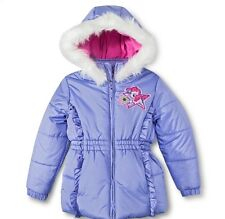 My Little Pony Girls Winter Coat with Faux Fur Hood, Purple, Sz 4, 5, 6 New