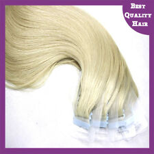20'' Tape in Human Hair Extensions 20/40pcs Straight Remy Hair Extensions Blonde