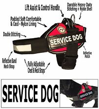 SERVICE DOG VEST-Heavy Duty Nylon & Stitching-Refective Safety-Lift Assist - HM2
