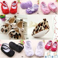 Newborn Girl Baby shoes Toddler Mary Jane Soft Sole Infant Anti-slip PreWalker c