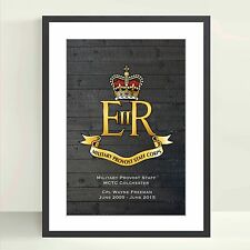 Military Provost Staff (MPSC) Personalised Poster - Military Retirement Gifts