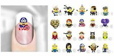 Minions Despicable Me Nail Decal Adult Kid Peel Apply Waterslide Transfer Bob