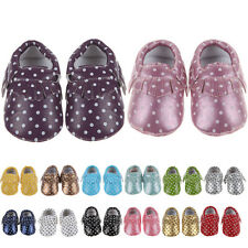 NEW Baby Soft Sole Leather Shoes Toddler Infant Boy Girl Tassel sneaker 0-30M